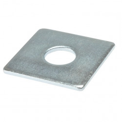 5 X SQUARE PLATE WASHER 40MM X 40MM WITH 10MM CENTRE HOLE