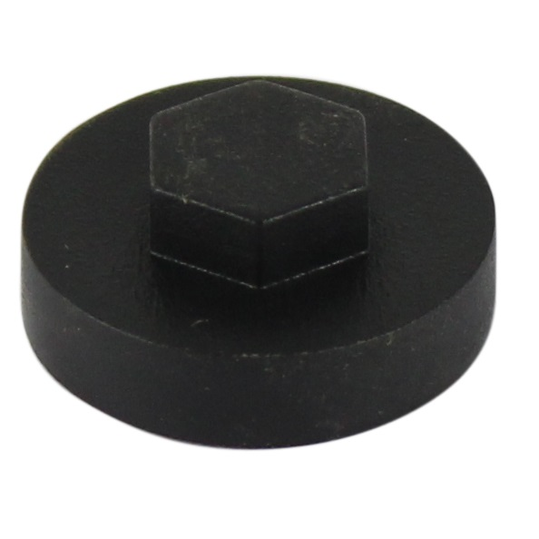 Hexagon Cover Caps - Black 19mm