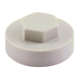 Hexagon Cover Caps - Pure White 19mm