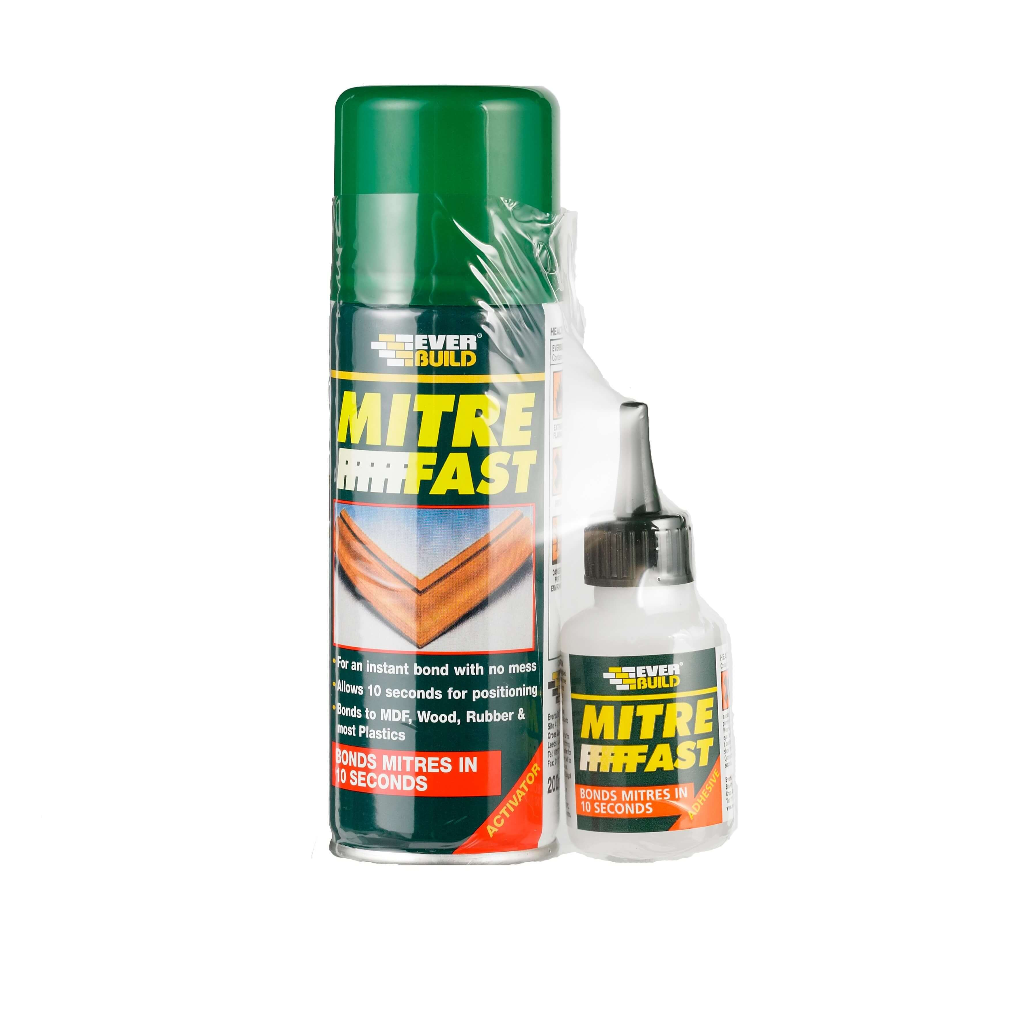 Everbuild Mitre Fast Bonding Kit - 200ml + 50g