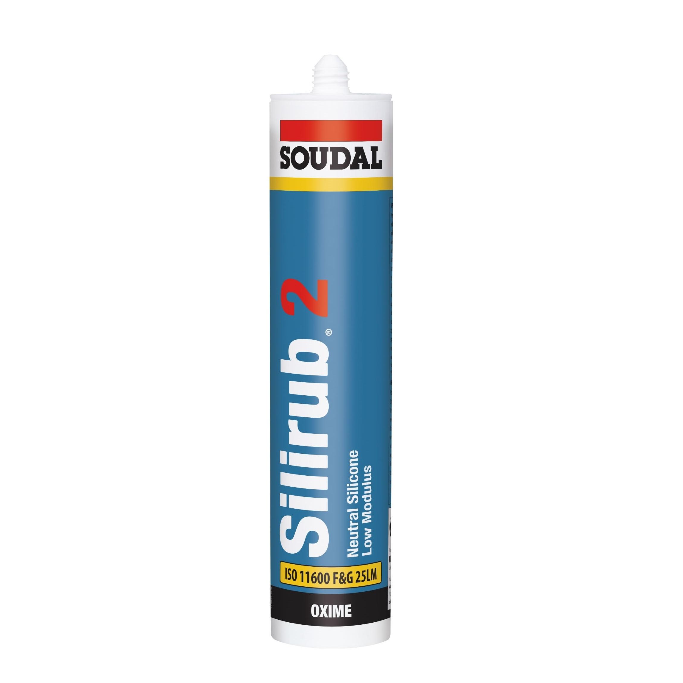Soudal Silirub 2 Silicone Low Mod - White