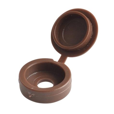 Hinged Screw Caps Dark Brown - 5.0 - 6.0mm