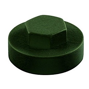 Hexagon Cover Caps - Juniper Green 16mm