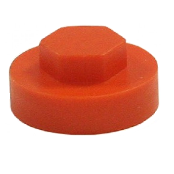 Hexagon Cover Caps - Tangerine Orange 16mm