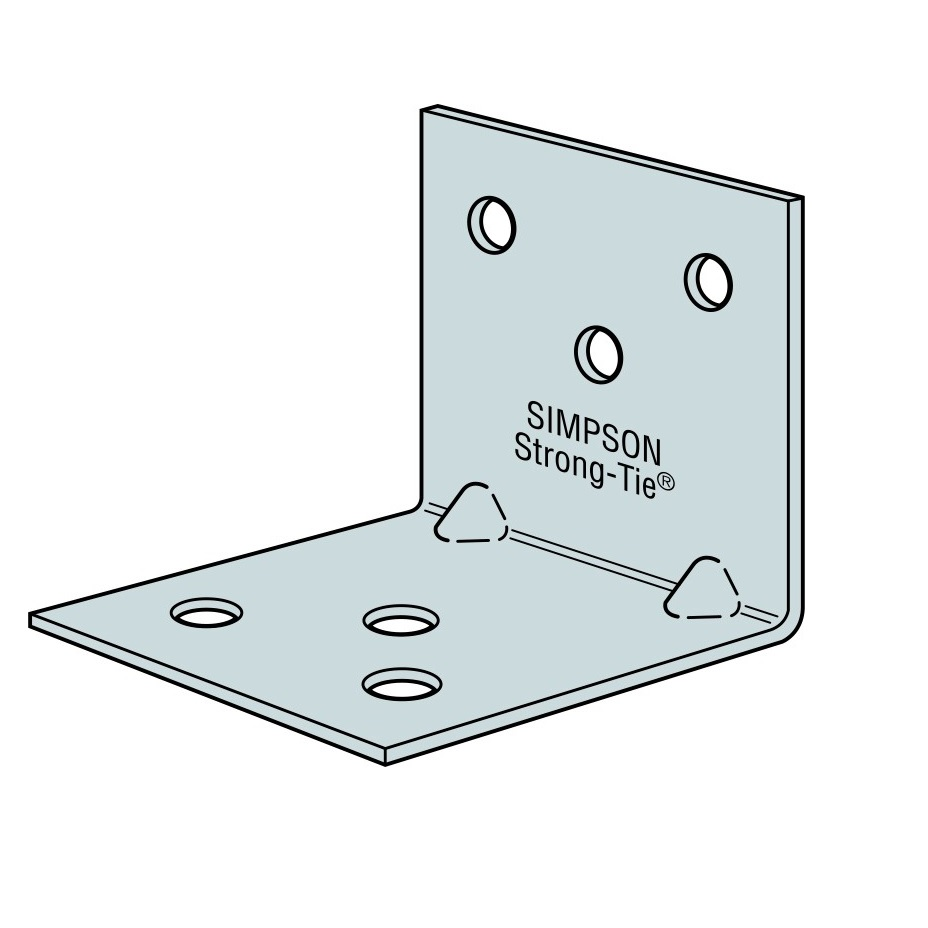 Simpson Galvanised Angle Brackets - 40 x 40 x 40mm