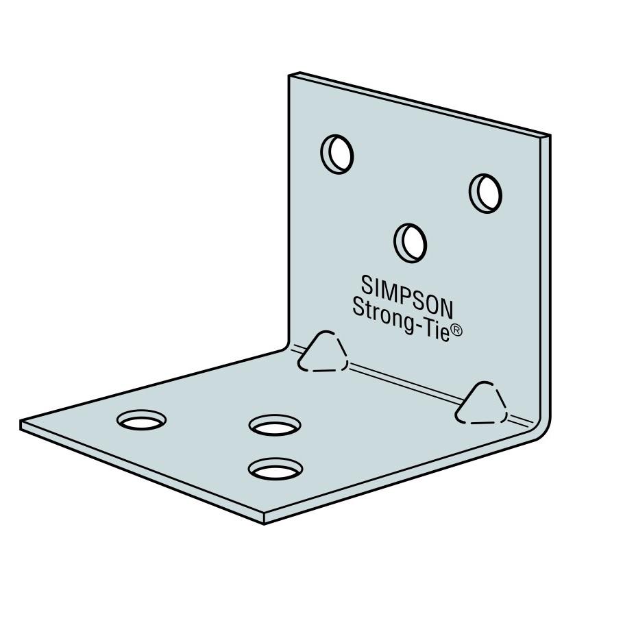 Simpson Galvanised Angle Brackets - 60 x 60 x 40mm