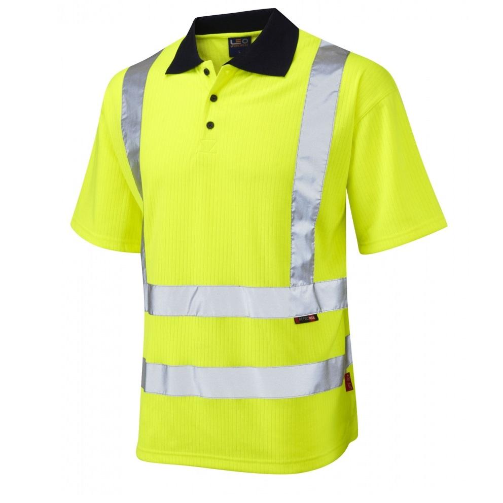 Warrior Hi Viz Short Sleeve Polo Shirts - Medium