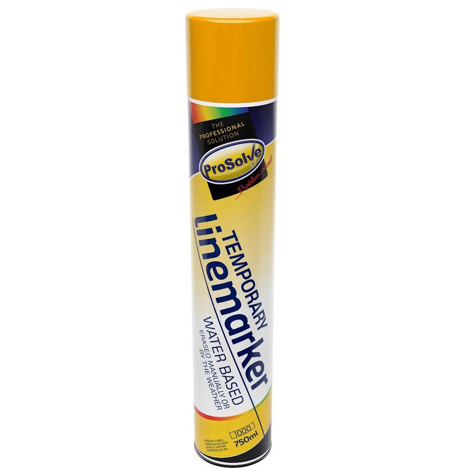 Prosolve Temporary Line Marker Paint - Yellow 750ml