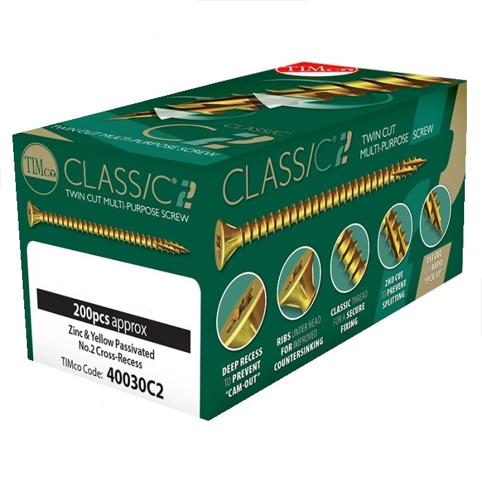 C2 Classic Woodscrews - 6.0 x 130mm