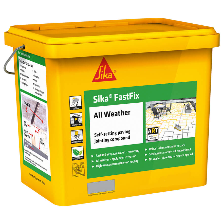Sika FastFix All Weather Self-Setting Paving Compound - Buff 15KG