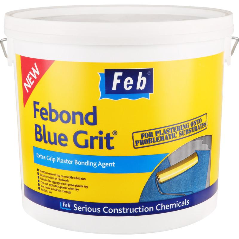 Febond Blue Grit Plaster Bonding Agent - 5L