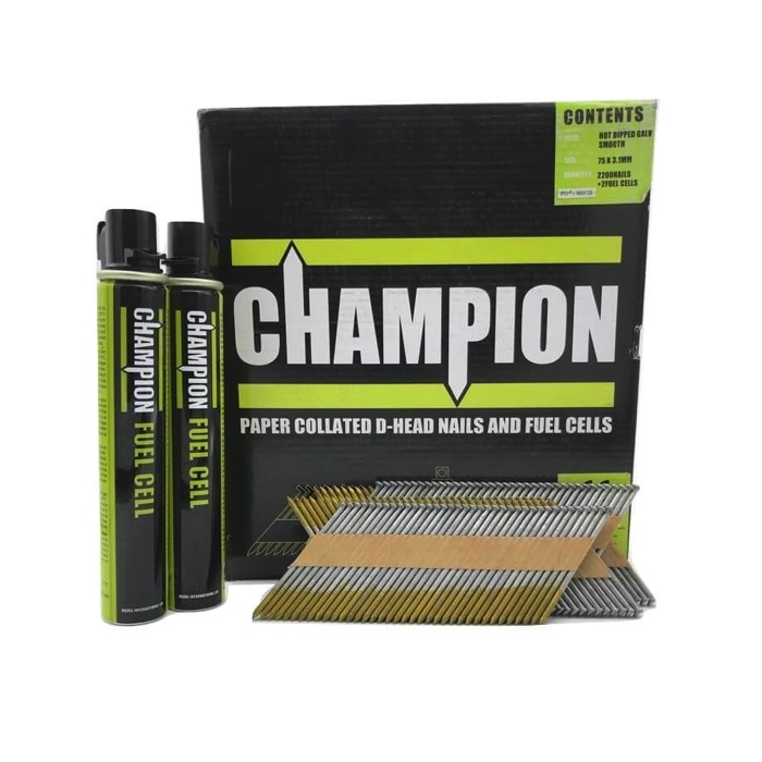 Champion Nails - 90 x 3.1mm Galvanised Smooth