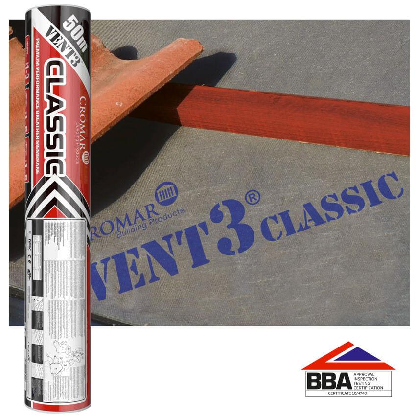 Vent 3 Classic Breathable Membrane 115gsm - 1m x 50m