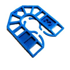 Plastic Shims - 3mm Small Blue | Tradefix Direct