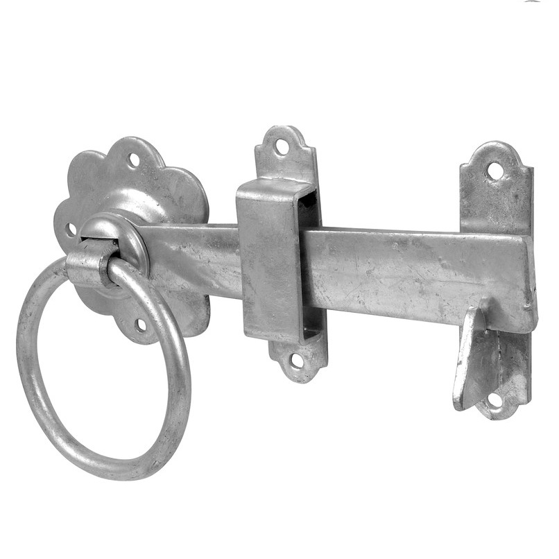 150mm Gate fixing kit With Tee Hinge /& Auto gate latch Catch /&Fixings Black
