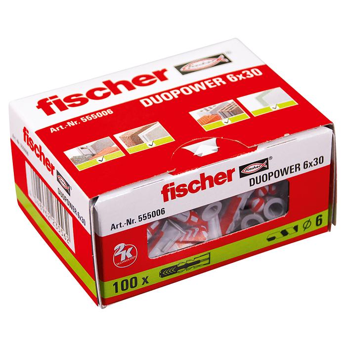 Fischer DuoPower Universal Plug - 6 x 30mm