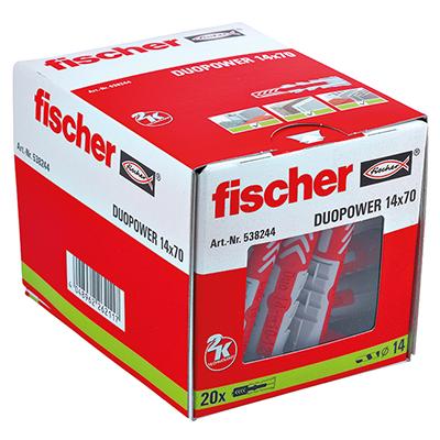 Fischer DuoPower Universal Plug - 14 x 70mm