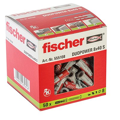 Fischer DuoPower Universal Plug and Screw - 8 x 40mm