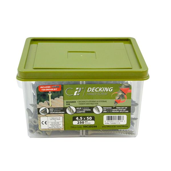 C2 Decking Screws - 4.5 x 65mm