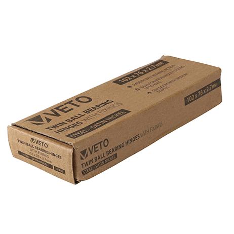 Satin Nickel Twin Ball Bearing Hinges -102mm