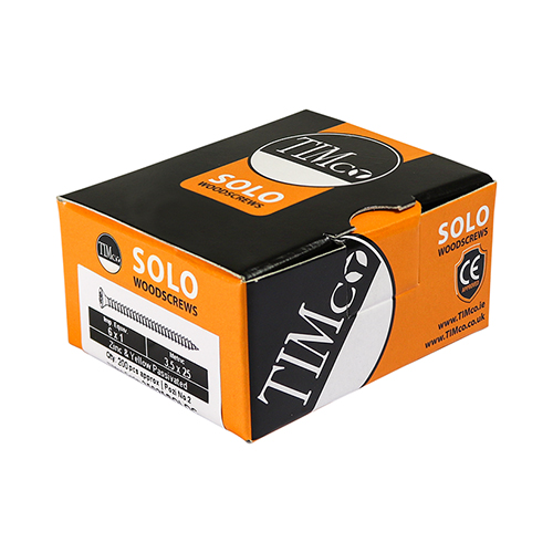 Timco Solo Woodscrews Double Countersunk Yellow - 5.0 x 90mm