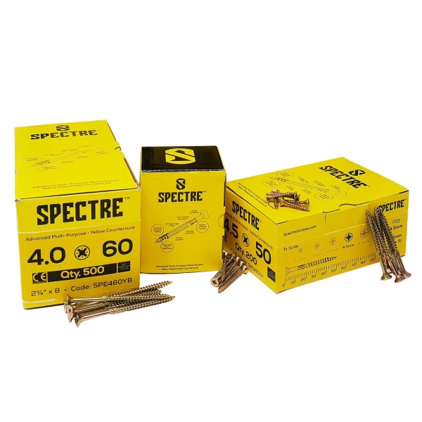 Spectre Advanced Multi-purpose Woodscrews - 5.0 x 80mm
