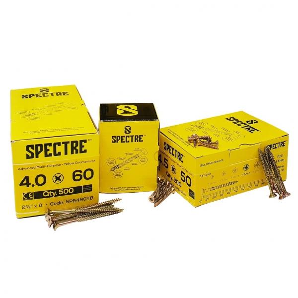 Spectre Advanced Multi-purpose Woodscrews - 4.0 x 50mm