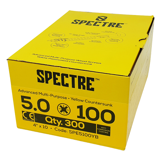 Spectre Advanced Multi-purpose Woodscrews - 5.0 x 100mm