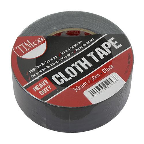 Heavy Duty Cloth Tape - Black