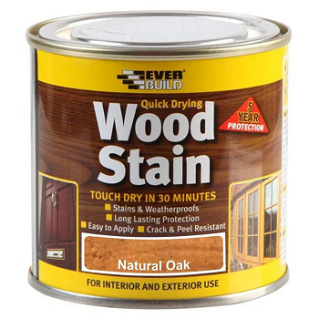 Everbuild Quick Drying Wood Stain 750ml - Natural Oak