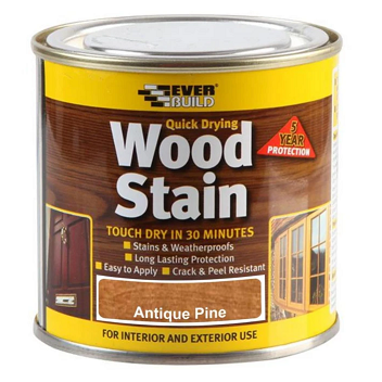 Everbuild Quick Drying Wood Stain 750ml - Antique Pine