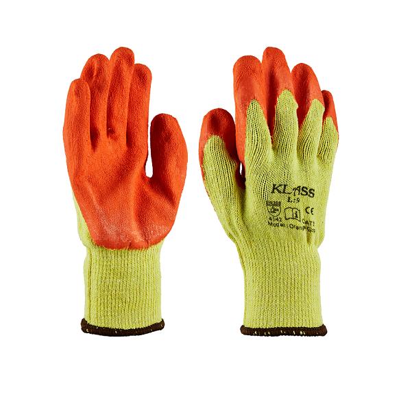 Klass Orange Grip Gloves - Medium