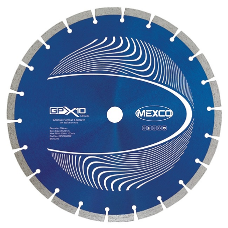 Mexco GPX10-8 Diamond Blade - 300mm